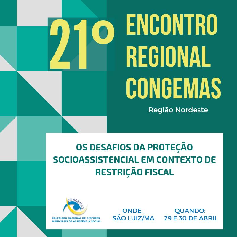 Encontro Regional Congemas - Nordeste