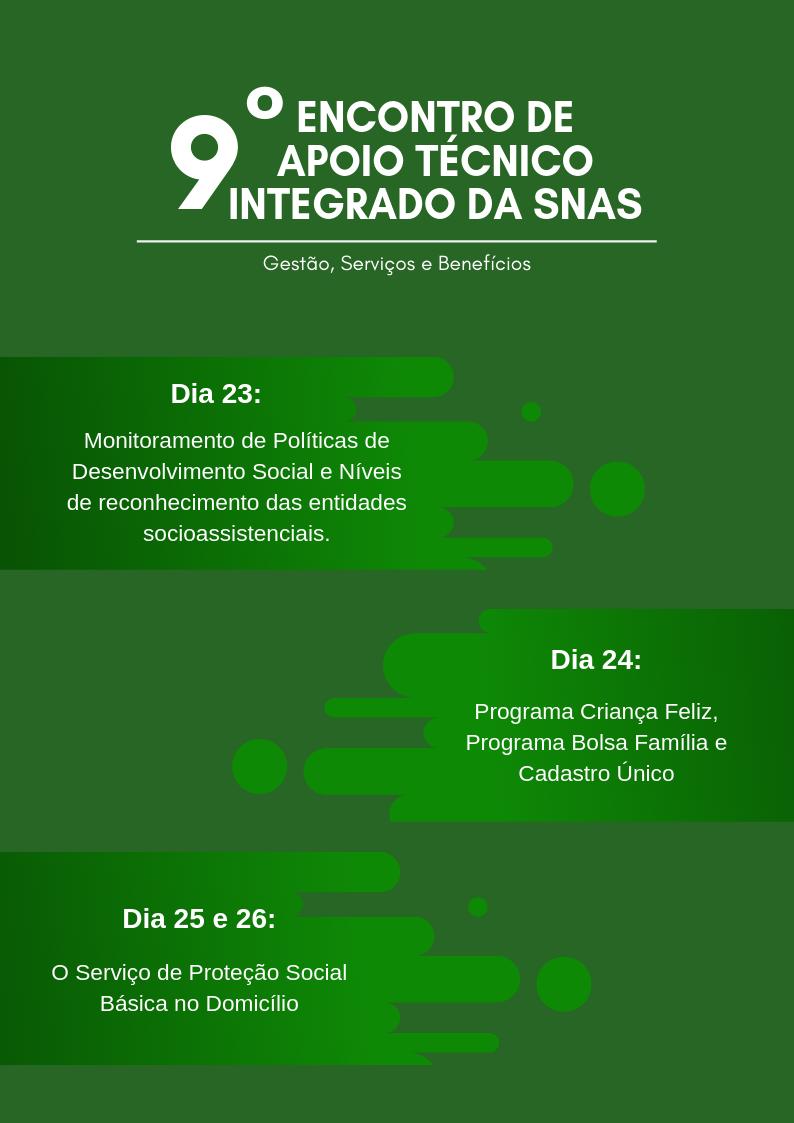 9º Encontro de Apoio Técnico Integrado da SNAS