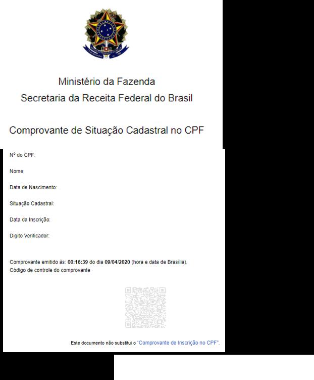 CPF – Consulta da Situação Cadastral na Receita Federal – Rede SUAS